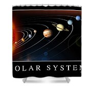 Solar System Poster Shower Curtain by Stocktrek Images