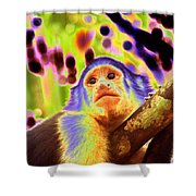Solarized White-faced Monkey Shower Curtain
