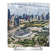 Soldier Field And Chicago Skyline Shower Curtain