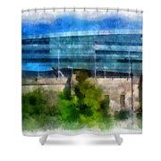 Soldier Field Chicago Photo Art 01 Shower Curtain