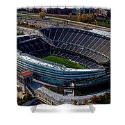 Soldier Field Chicago Sports 06 Shower Curtain by Thomas Woolworth