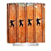 Soldier Graffiti Shower Curtain