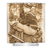Soldier On Horse Shower Curtain