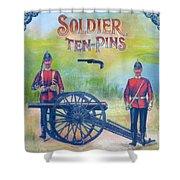 Soldier Ten-pins Shower Curtain