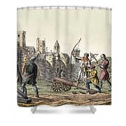 Soldiers And Artillery Of The 15th Shower Curtain