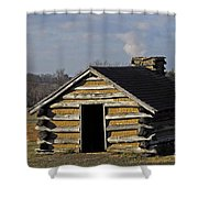 Soldiers' Barracks At Valley Forge Shower Curtain