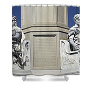 Soldiers Monument Detail Shower Curtain
