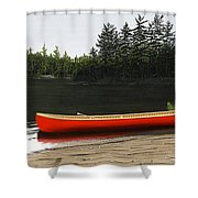 Solemnly Shower Curtain