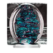 Solid Glass Sculpture Rb3 Shower Curtain