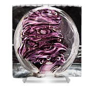 Solid Glass Sculpture Rp5 - Purple And White Shower Curtain