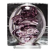 Solid Glass Sculpture Rpw Purple And White Shower Curtain
