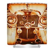 Solid Gold Mercedes Shower Curtain
