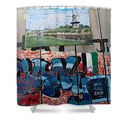 Solidarity With Palestine Shower Curtain