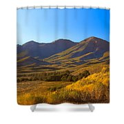 Solider Mountain Shadows Shower Curtain