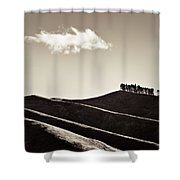 Solitary Cloud Shower Curtain