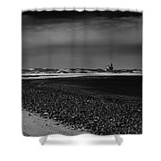 Solitary Lighthouse Shower Curtain