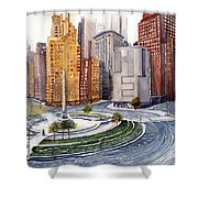 Solitary Nyc Shower Curtain