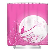 Solitary Pink Background Shower Curtain