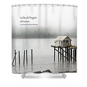 Solitude Begets Whimsies Shower Curtain
