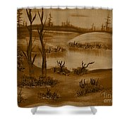 Solitude Of Winter Shower Curtain