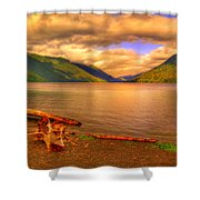 Solitude On Crescent Lake Shower Curtain