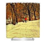 Solitude With A Friend Shower Curtain