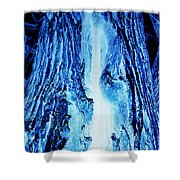 Solo Blue Shower Curtain