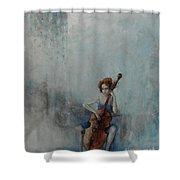 Solo Celloist Shower Curtain
