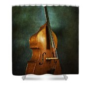 Solo Upright Bass Shower Curtain