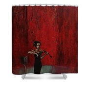 Solo Violinist Shower Curtain