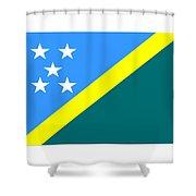 Solomon Island Flag Shower Curtain