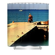 Some Day Soon Shower Curtain by Karen Wiles