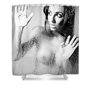 Somebody There? Shower Curtain