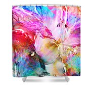 Somebody's Smiling - Abstract Art Shower Curtain