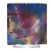 Someone Shower Curtain by Francoise Dugourd-Caput