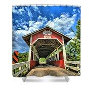 Somerset Pa Glessner Bridge Shower Curtain