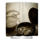 Somewhere In Time Shower Curtain by Amy Weiss