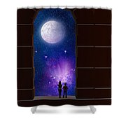 The View To Infinity Shower Curtain