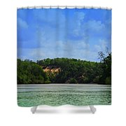 Somewhere On The River Shower Curtain