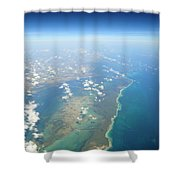 Somewhere Over Cuba Shower Curtain