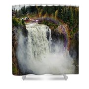 Somewhere Over The Falls Shower Curtain