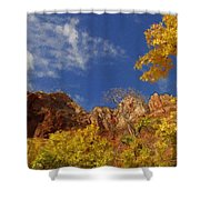 Somewhere Over The Mountains Shower Curtain