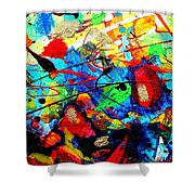 Somewhere Over The Rainbow Shower Curtain by John  Nolan