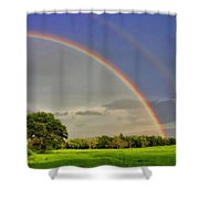 Somewhere Over The Rainbow Shower Curtain