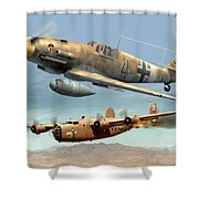 Somewhere Over Tunisia Shower Curtain