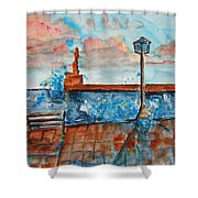 Somplace In Greece Shower Curtain