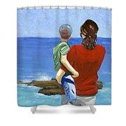 Son Of A Sailor Shower Curtain by Karyn Robinson
