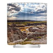 Son Over The Badlands Shower Curtain