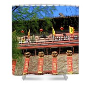 Song Dynasty Town In Dali 2 Shower Curtain