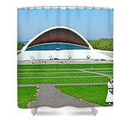 Song Festival Amphitheatre In Tallinn-estonia Shower Curtain
